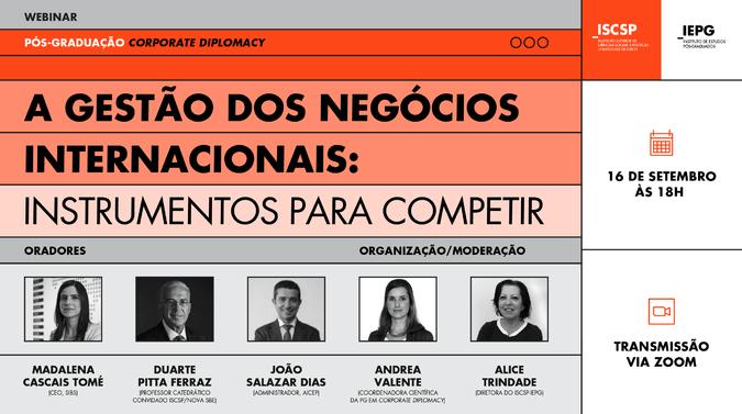 """Webinar """"A Gestão dos Negócios Internacionais: Instrumentos para Competir"""""""